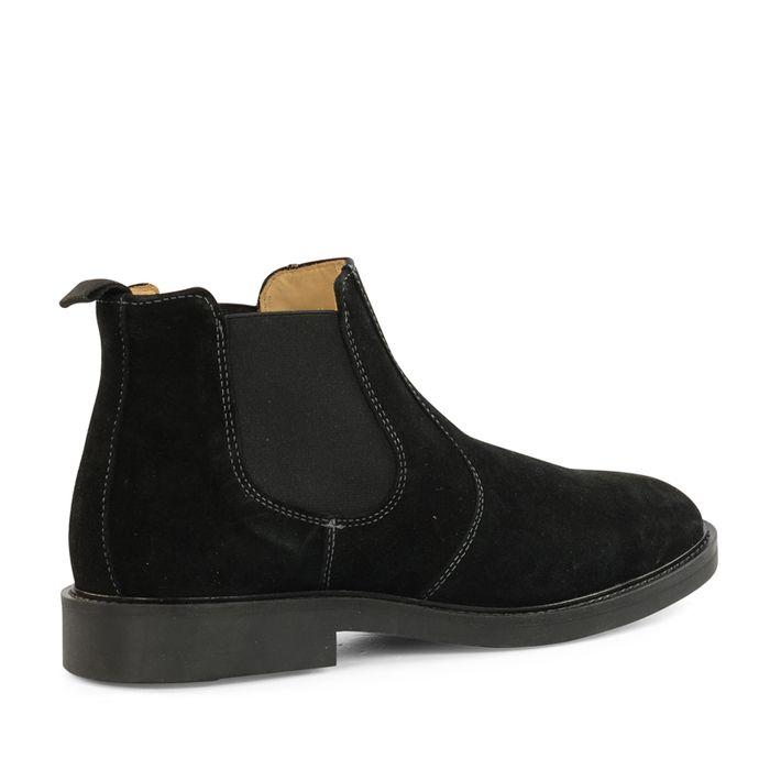 GANT schwarze Chelsea Boots  aus Veloursleder