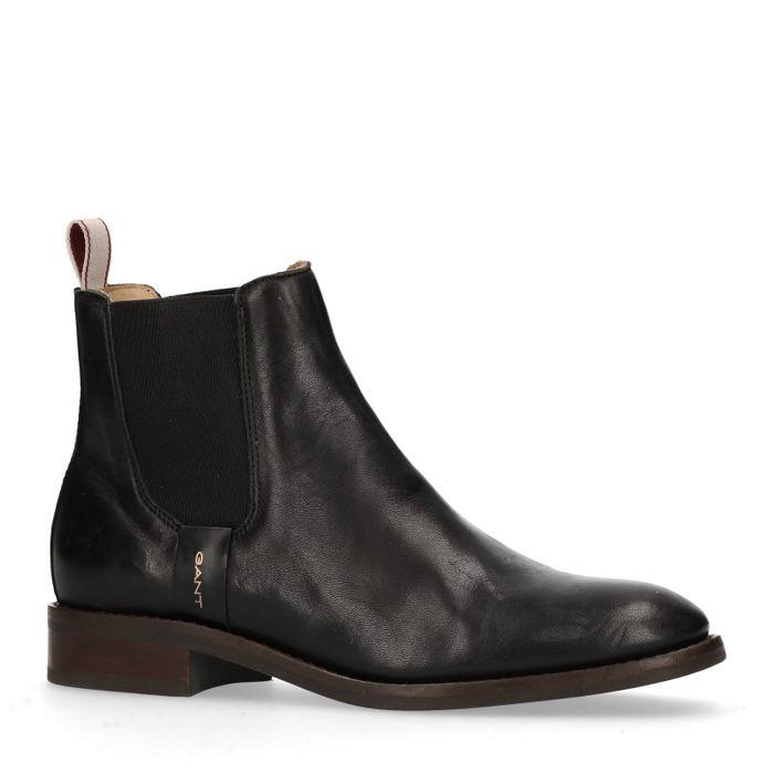 GANT Fay schwarze Chelsea Boots aus Leder