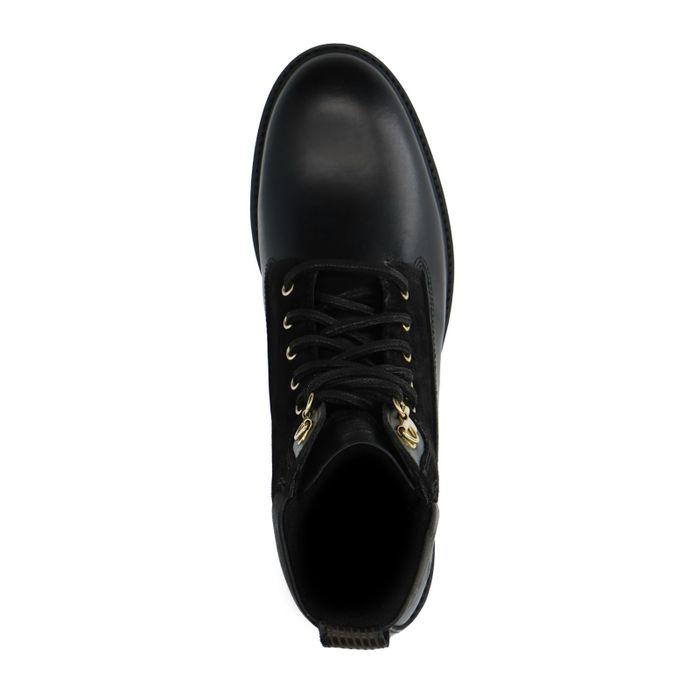 GANT schwarze Leder-Schnürstiefeletten