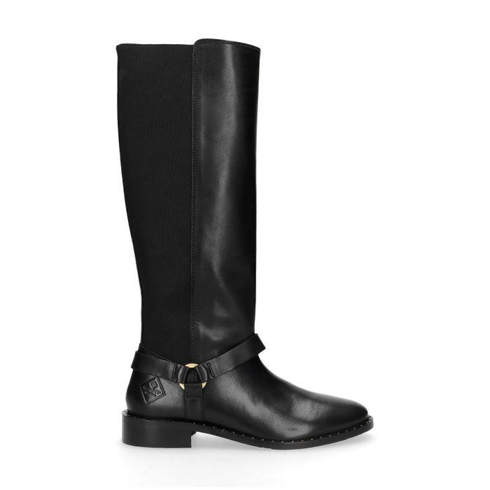 GANT Hampton schwarze Stiefel aus Leder