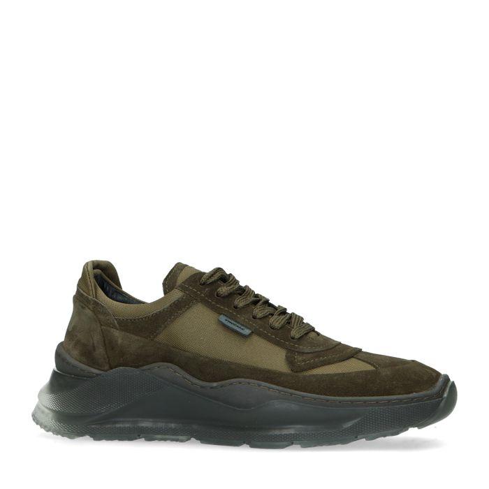 Greyderlab khaki suède sneakers LED