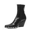 Jeffrey Campbell Walton zwarte korte laarzen