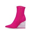 Jeffrey Campbell Siren Bottines-chaussettes - rose