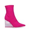 Jeffrey Campbell Siren Bottines-chaussettes textile - rose