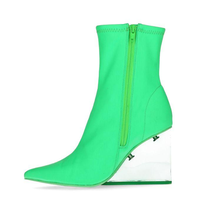 Jeffrey Campbell Siren Sock Boots grün