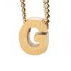 LUZ gouden bedel letter G