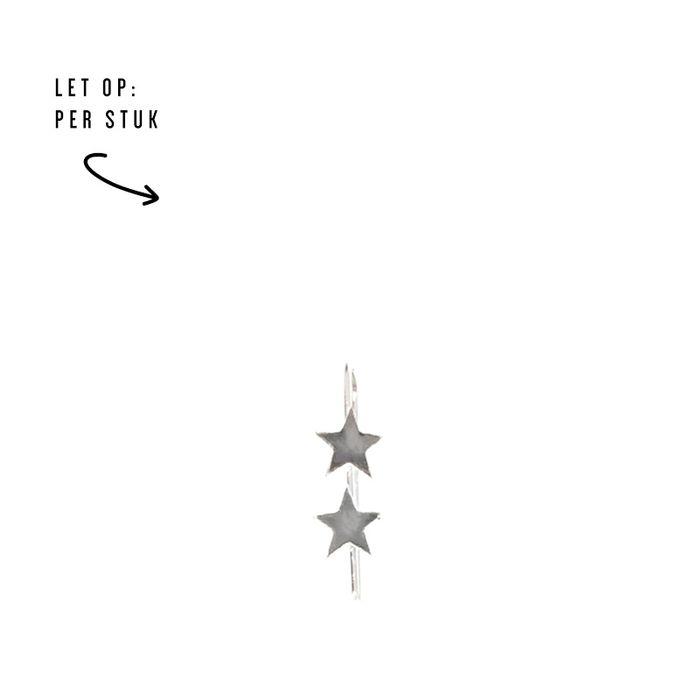 LUZ - boucles d'oreille double étoiles argent