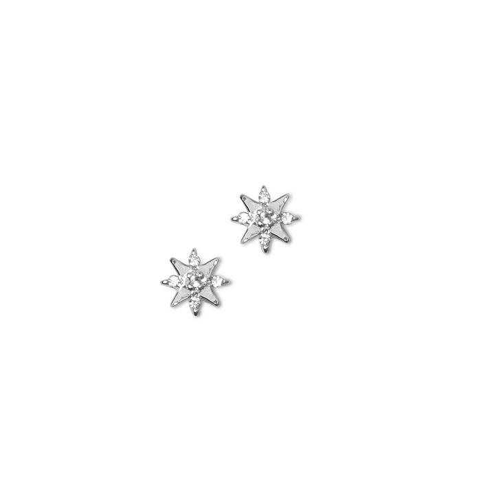 LUZ Clous d'oreille étoiles - argenté