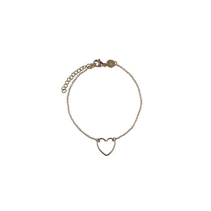 LUZ - bracelet avec cœur fait main or