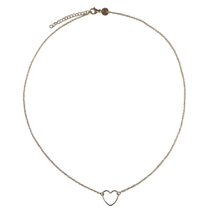LUZ - collier avec cœur fait main or