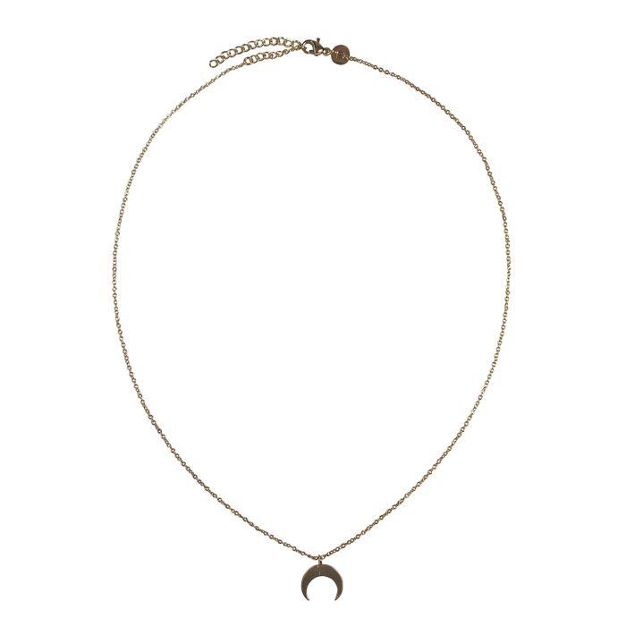LUZ - collier croissant de lune or