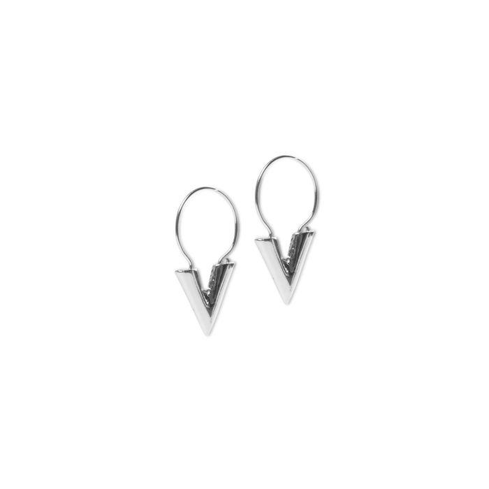 LUZ Boucles d'oreille forme V - argent