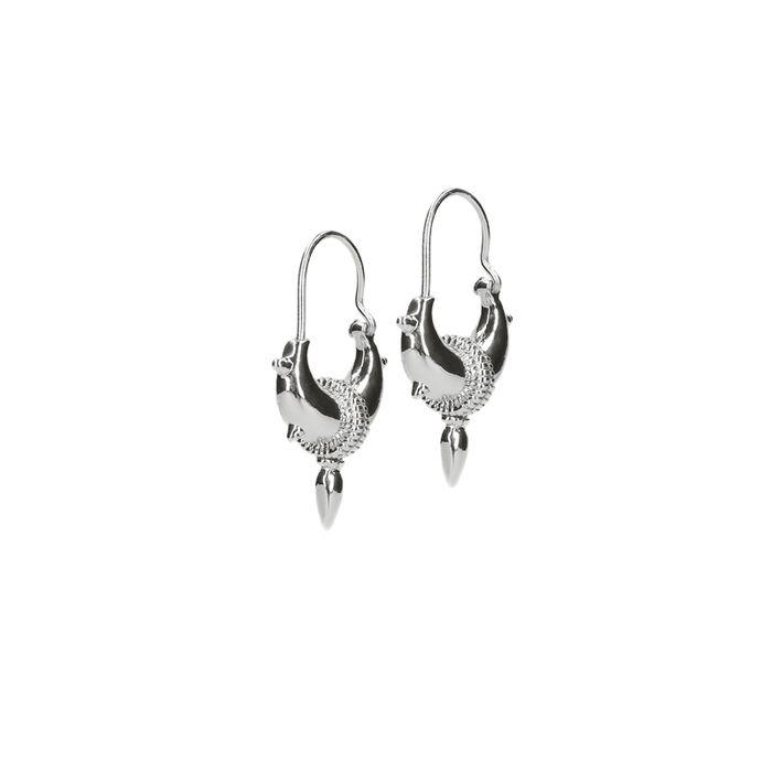 LUZ Boucles d'oreille tibétaines avec pointes - argenté