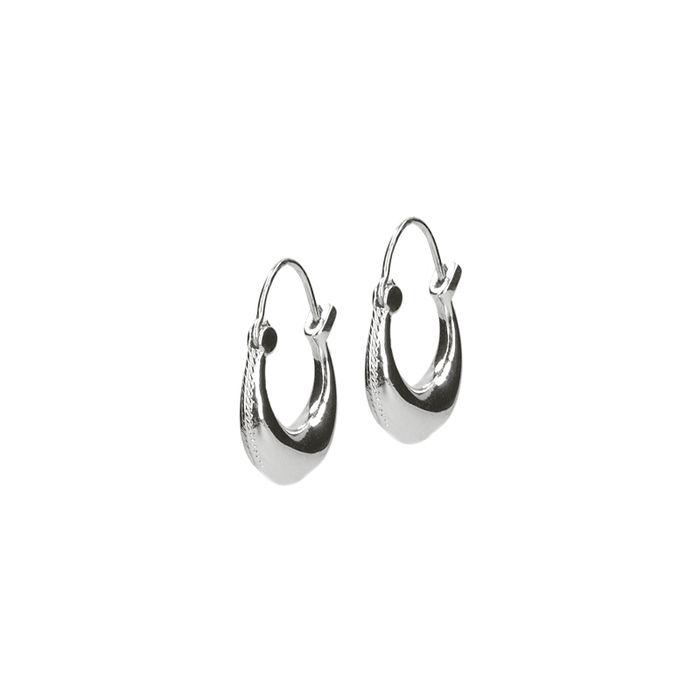 LUZ Boucles d'oreille épurées - argenté