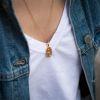 LUZ Collier pendentif serpent - argenté