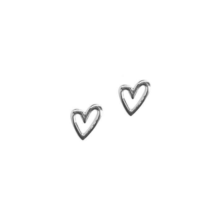 LUZ Boucles d'oreille avec cœur - argenté