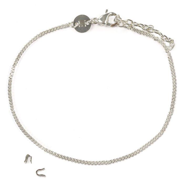 LUZ - bracelet lettres - argent