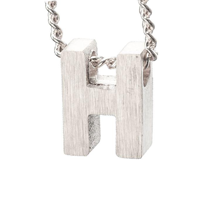 LUZ - breloque argentée lettre H
