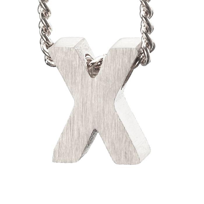 LUZ - breloque argentée lettre X