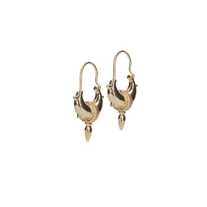 LUZ tibetische Ohrringe mit Spikes gold