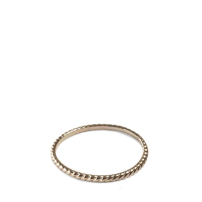 LUZ gedrehter Ring gold