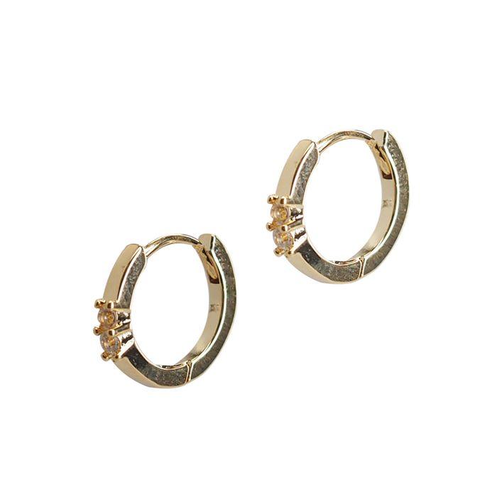LUZ Ohrringe mit Steinchen gold