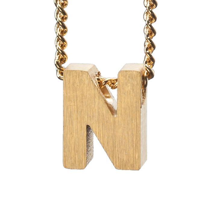 LUZ Buchstaben-Anhänger N gold