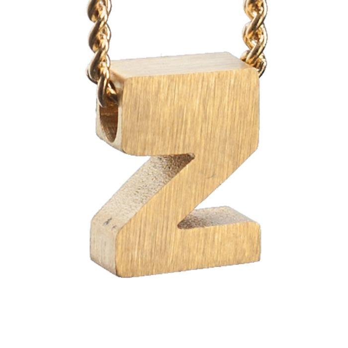 LUZ Buchstaben-Anhänger Z goldfarben
