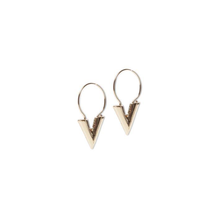 LUZ V shape oorbellen goud