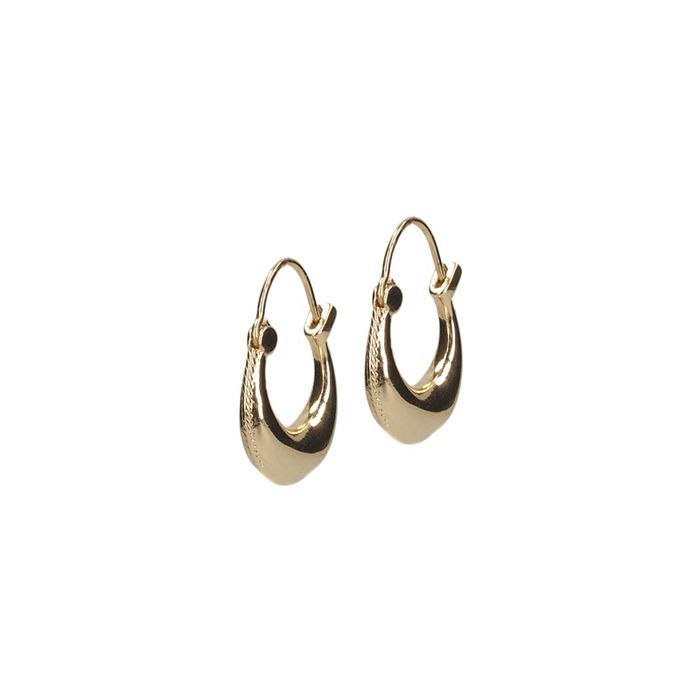 LUZ clean oorbellen goud
