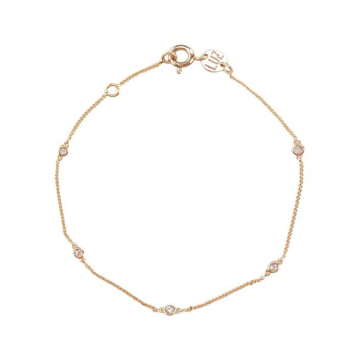 LUZ zirkonia stone armband goud