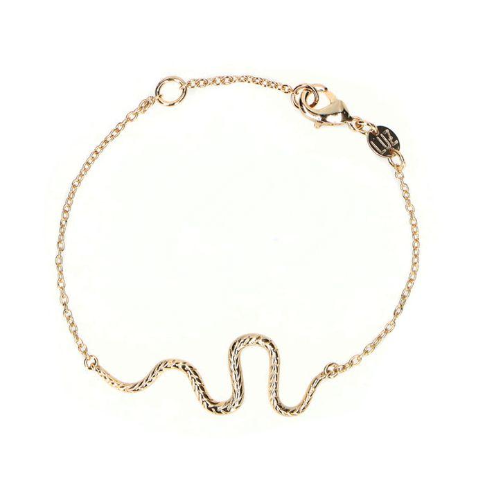 LUZ snake armband goud