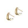 LUZ double rings met steentjes goud