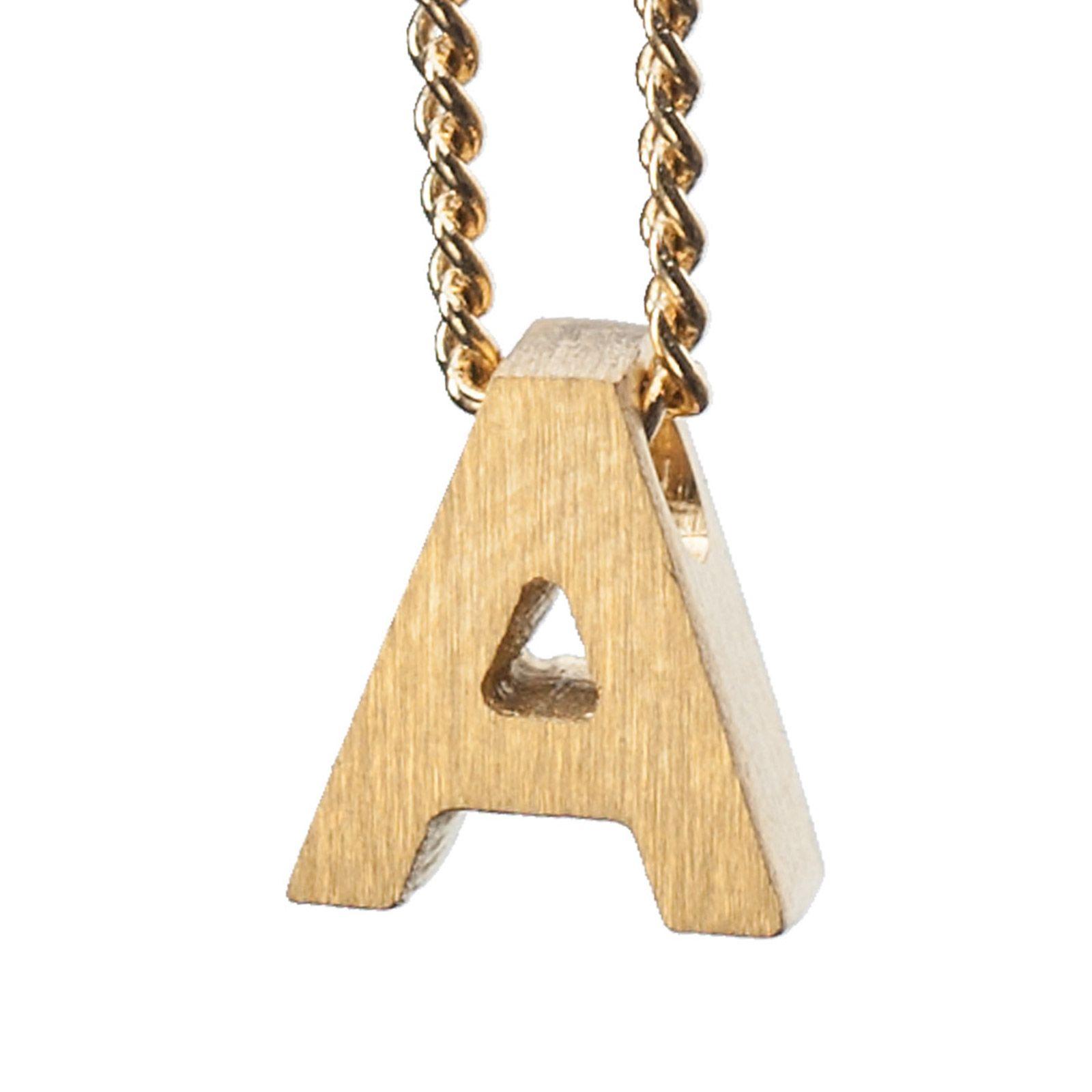 LUZ gouden bedel letter A