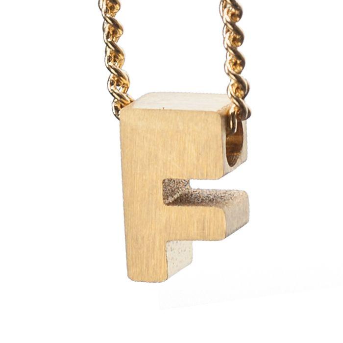 LUZ gouden bedel letter F