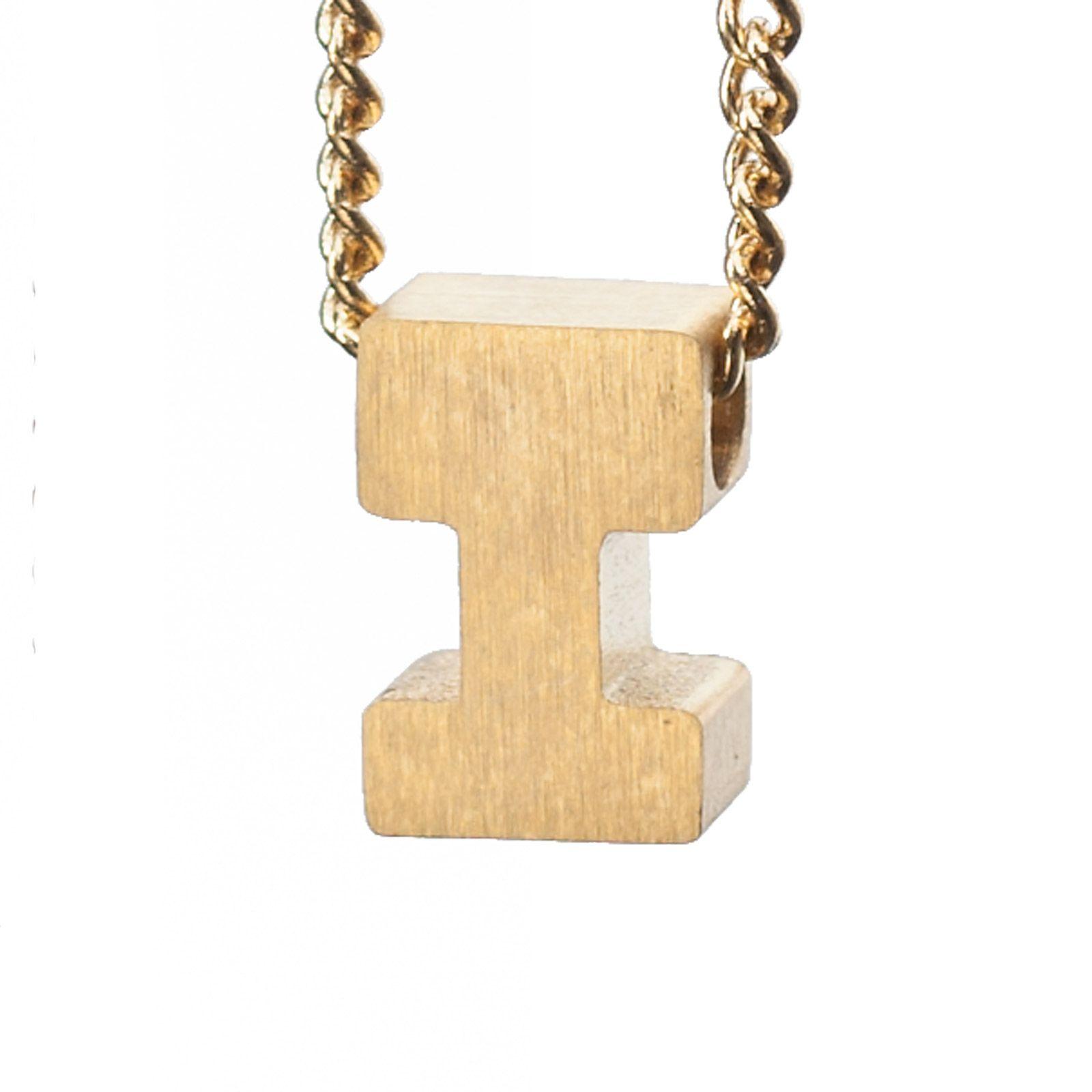 LUZ gouden bedel letter I