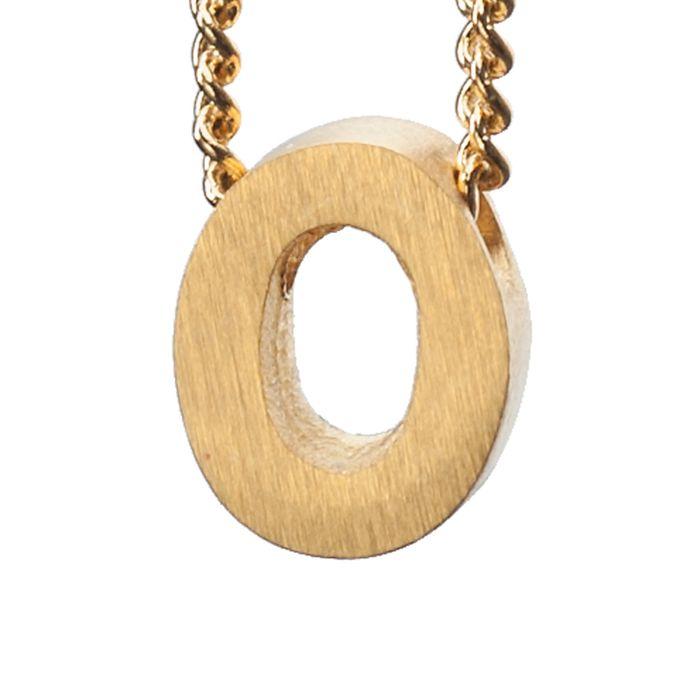 LUZ gouden bedel letter O