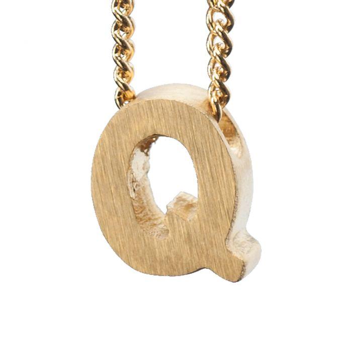 LUZ gouden bedel letter Q