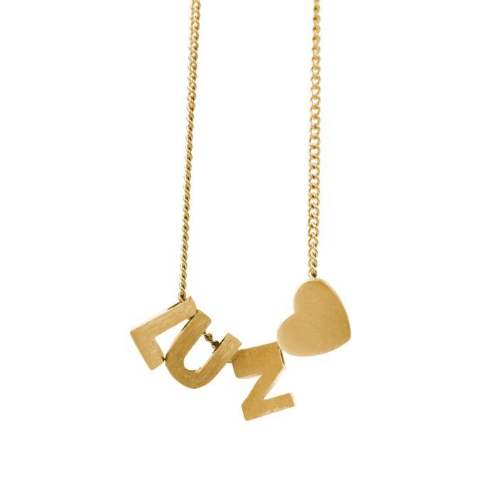 LUZ gouden bedel letter V