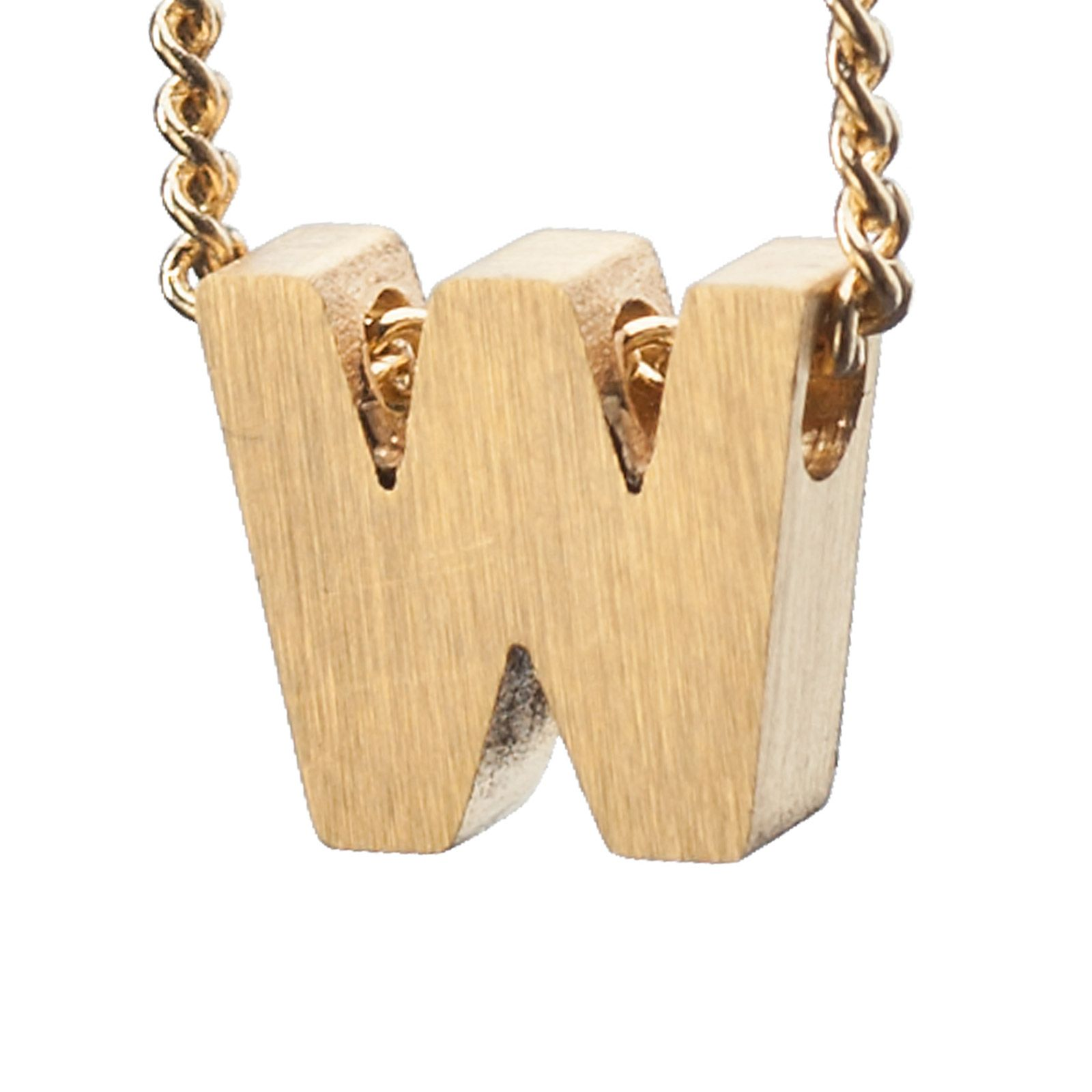 LUZ gouden bedel letter W