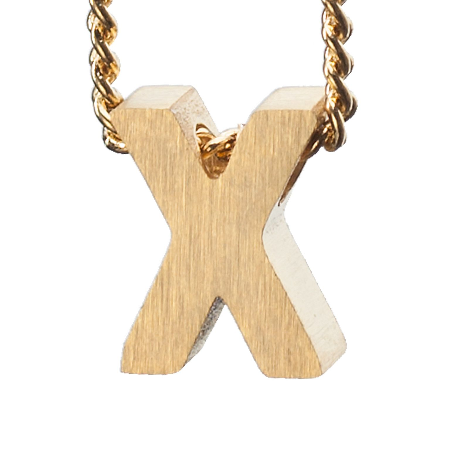 LUZ gouden bedel letter X