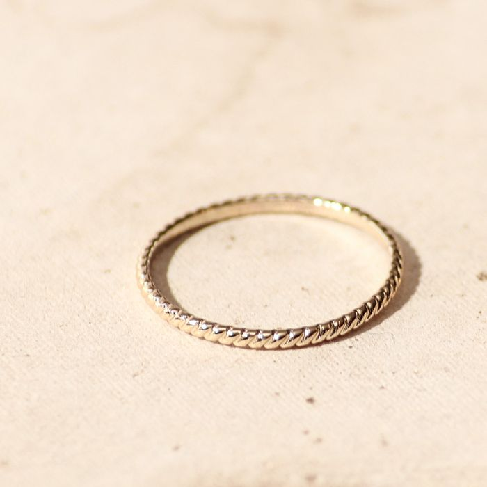 LUZ structured ring - doré