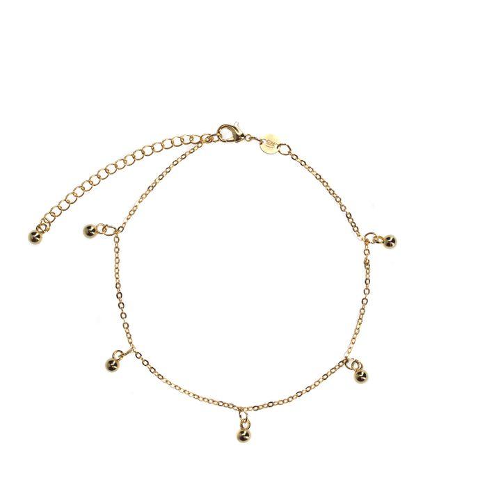 LUZ Bracelet de cheville chaîne boule - doré