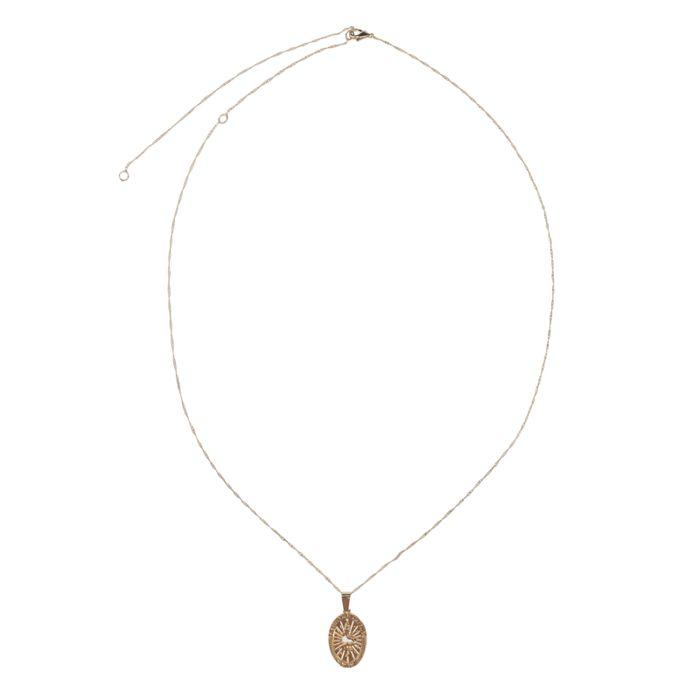 LUZ Collier pendentif serpent - doré