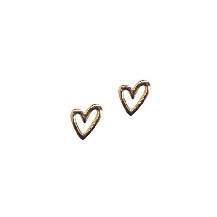LUZ Boucles d'oreille avec cœur - doré