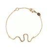 LUZ Bracelet serpent - doré