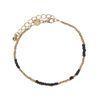 LUZ Bracelet perles - noir/doré