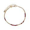 LUZ Bracelet perles - doré/bordeaux