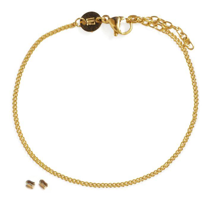 LUZ - bracelet lettres - or