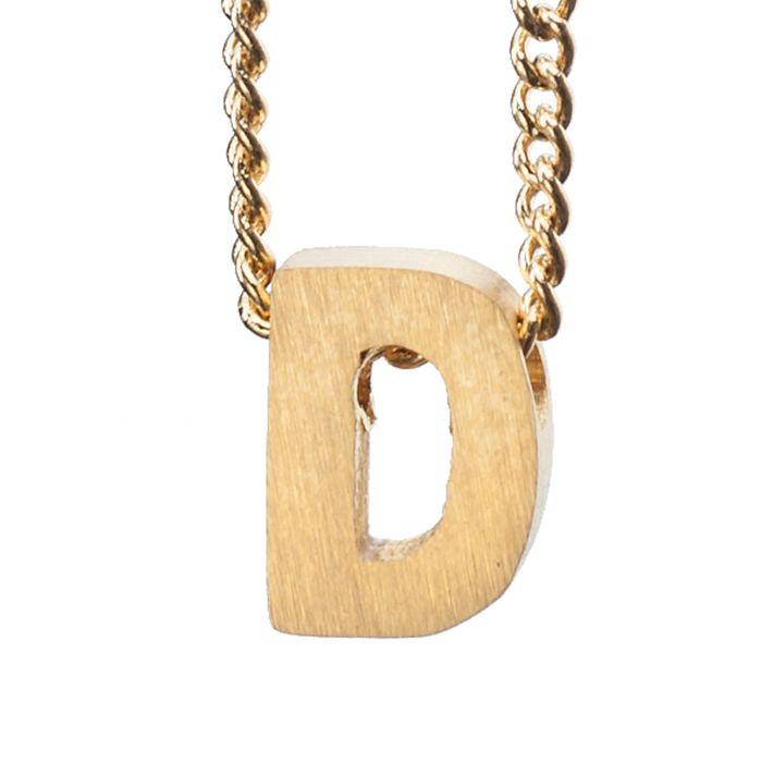 LUZ - breloque dorée lettre D